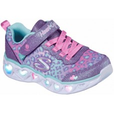 Athletic Skechers leopard with Velcro and lights